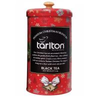 Тарлтон Красный Бархат ЧЕРНЫЙ ЛИСТОВОЙ ЦЕЙЛОНСКИЙ БАЙХОВЫЙ ЧАЙ (FBOP)КУСОЧКИ КЛУБНИКИ Premium Christmas Tea