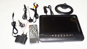 9,5« Портативный TV 901 USB, SD (без батареи)