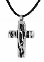 Кулон - крест из стали ПС-2171