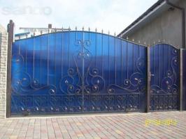 Ворота кованые с поликарбонатом Луцк