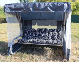 Садовая качель «Таити» серый металлик