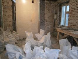 Демонтаж стен, пола и вывоз мусора