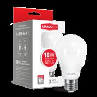 LED лампа MAXUS A60 10W яркий свет 220V E27 (1-LED-562-01)