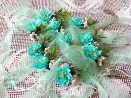 Браслети ручної роботи із ревелюру для дівчат із м'ятних троянд Cecile Brunner