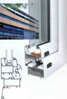 Холодные алюминиевые окна и двери витражи .