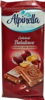 Шоколад «Alpinella» молочный с изюмом и орехом, 90г