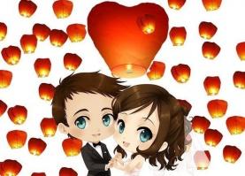 Небесные фонарики «Свадебный набор 20» Сердца