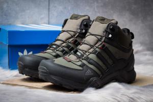 Зимние ботинки на меху в стиле Adidas Terrex Gore Tex, хаки (30515),  [  41 42 43 44 46  ]