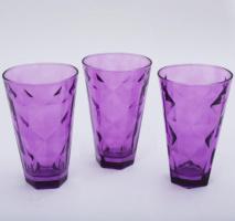 Набор 3 стакана «Эмилия»-22 пурпурные 375мл