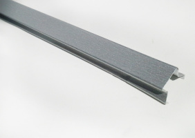 Вставка Alubest для реечного потолка, итальянского типа, длина 4м, металлик
