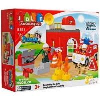 Конструктор Пожарная станция. 32 детали, свет и звук. JDLT 5151