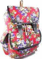 Рюкзак женский городской молодёжный модный тканевый цветы. Хит продаж