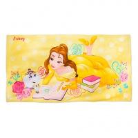 Детское пляжное банное полотенце с изображением Бель. Красавица и чудовище.