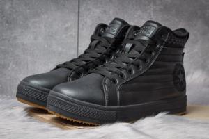 Зимние ботинки на меху Converse Waterproof, черные (30491),  [  42 43 44  ]