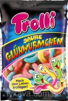 Желейные конфеты Trolli Saure Glühwürmchen , 200 гр,