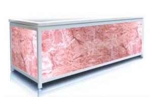 Экран под ванну Пан Билан - ЭЛИТ 150см. Розовый Лед