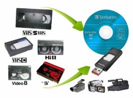 Оцифровка видео кассет SVHS, VHS, VHS-C, Hi8, miniDV.
