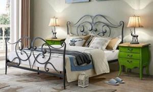 Кованая кровать «Мальме» с двумя спинками.
