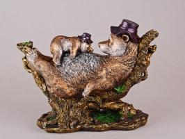 Статуетка «Ведмідь з ведмежам» 25 см