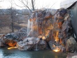 Декоративные водопады, каскады, гроты