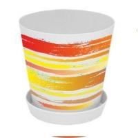 Горшок для цветов с подставкой «Деко» 13*12,5 (Краски оранж. 1л.)