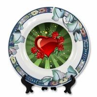 Тарелка керамическая design клубника, лотос, цветы