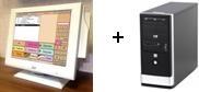 """монитор 15"""" б/у WincorNixdorf ВА-73 со счит. магн. карт + новый системный блок"""