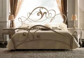 Кованая кровать «Жемчужина» с двумя спинками