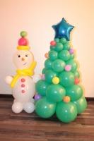 снеговик с елочкой 130 см