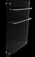 Электро полотенцесушитель Evolution Duo HGlass GHT 5070 (стеклокерамика) черный белый 500*700*12 мм 450/225 Вт