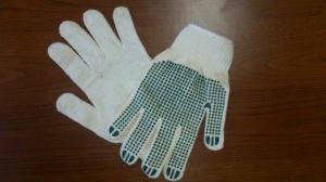 Перчатки рабочие с ПВХ точкой.