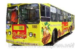 Реклама на транспорте Житомир тролейбус тромвай