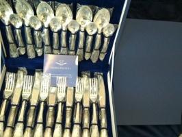 Набор десертных столовых приборов Royal, покрыт серебром 999,9° пробы + БОНУС