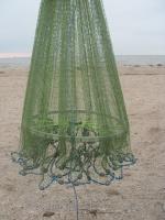 Кастинговая сеть из капроновой нити с большим кольцом диаметром 5 м (парашют, намет)