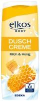 Крем-гель для душа elkos Duschcreme Milch & Honig-Молоко и мёд 300мл