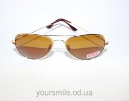 Легендарные очки Ray Ban Aviator Оранжевые линзы Поляризация