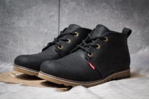 Зимние ботинки на меху в стиле Levi's Winter, черные (30601),  [  40 42 43 45  ]