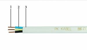 Провод ВВГ-П 2*1,5 мм. кв. ПК