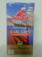 Чай Mervin черный Бергамотом пакетированный 25*2 грам.