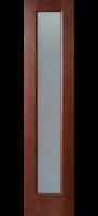 Двери межкомнатные ТРОЯ темный орех ПО 40 см