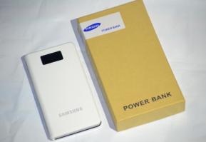 Power Bank Samsung 25000 mAh White, 3-USB + LCD-екран