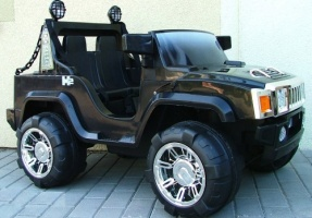 Детский электромобиль Джип Hummer A 26-2 (черная)