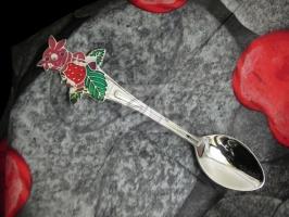 Детская сувенирная ложка Лунтик. Серебро + эмаль.