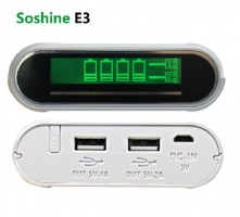 Power Bank Soshine E3, 4х18650, 2.1A