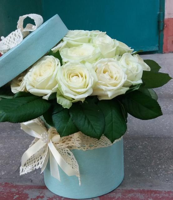 Цветы в коробке Нежные объятия