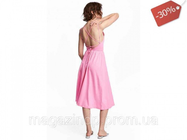 97da9a991f39a8 Сукня з трикутним вирізом жіноча р.36 (укр.42) рожева 05437776 ТМ«H&M»