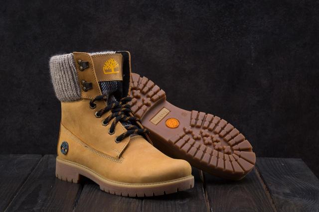 72649aa1 Ботинки Best Vak БЖ 35-07 (Timberland) (зима, женские, нубук, рыжий ...