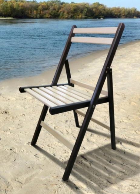 Деревянный складной стул