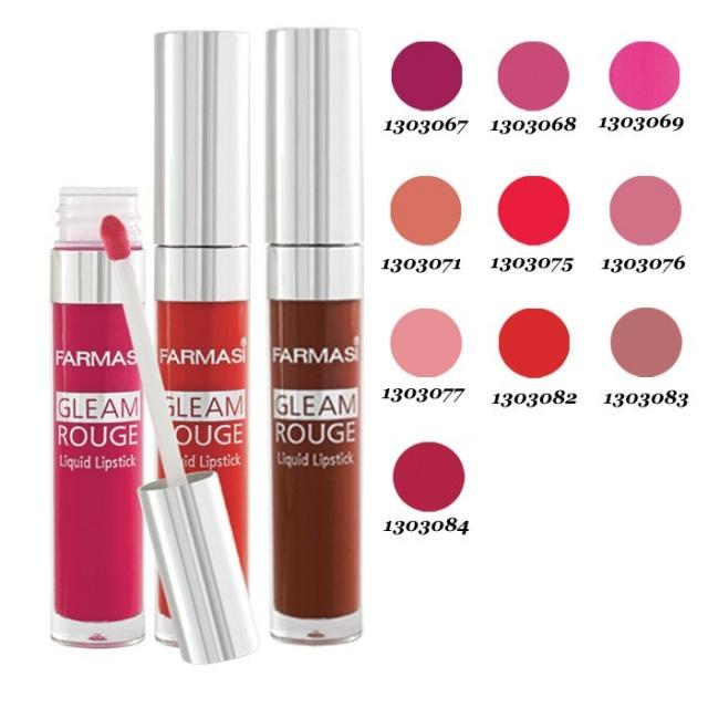 Жидкая губная помада «Чувственный отблеск»Farmasi Gleam Rouge Liguid Lipstick
