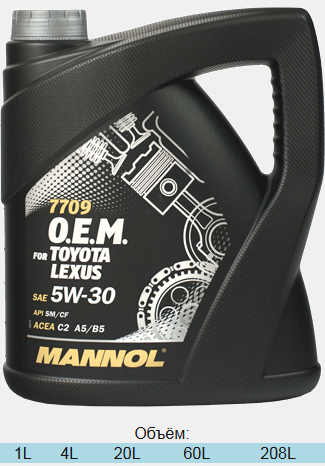 Моторное масло Manol TOYOTA/LEXUS SAE 5W-30